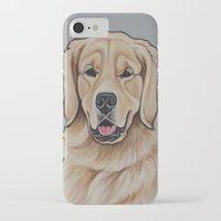 golden retriever iPhone & iPod Cases featuring Golden Retriever  by Cheney Beshara