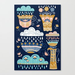 Rain tea Canvas Print