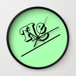 He Wall Clock
