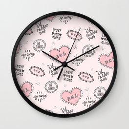 anti-valentines Wall Clock