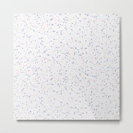 Speckles I: Rose Quartz & Serenity on Snow Metal Print