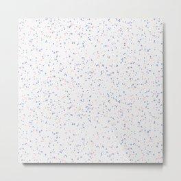 Speckles I: Rose Quartz & Serenity on Snow Metal Print