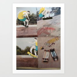 Retro Skater dude Art Print