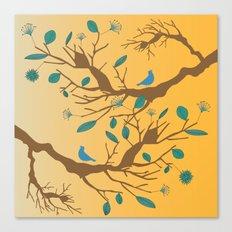 Birds on a branch 2 Canvas Print