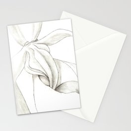Orchid Center Sketch Stationery Cards