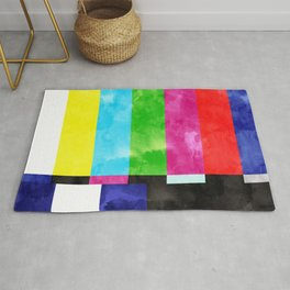 No Signal #painting #retro #tv Rug