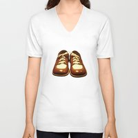 shoes V-neck T-shirts featuring Shoes by Kimball Gray