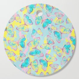 BUTTERFLIES YELLOW Cutting Board