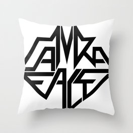 CamRaFace Logo White for T-Shirts Throw Pillow