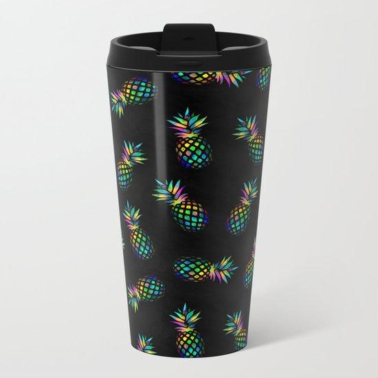 Iridescent pineapples Metal Travel Mug