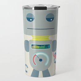 Retro Toy Robot Robo Ludens Travel Mug
