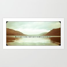 The moments that take our breath away.  Art Print