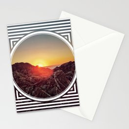 Peel Sunset  - line/circle graphic Stationery Cards