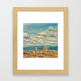 Duomo in Florence Skyline Framed Art Print