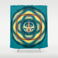 calendar Shower Curtains featuring NEW MAYAN CALENDAR by Alberto Farca