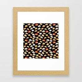 Cheese pattern food fight apparel and gifts Framed Art Print