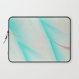 Pattern turquoise and white 1 Laptop Sleeve