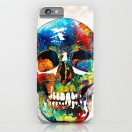 Colorful Skull Art - Aye Candy - By Sharon Cummings iPhone Case