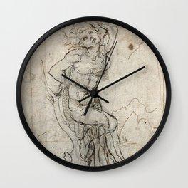 Art by Leonardo Da Vinci Wall Clock