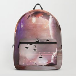 Funny Cute Cat Playing Violin Backpack
