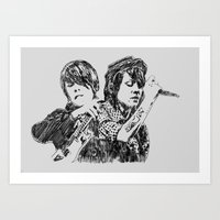 tegan and sara Art Prints featuring Tegan & Sara by sostular