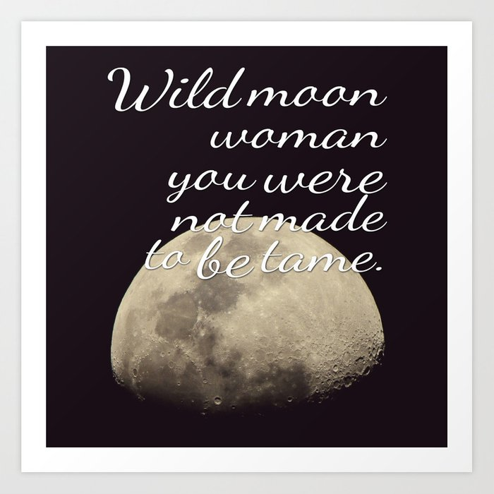 Moon Goddess   Moon   Wicca Quotes   Wiccan   Quotes Art Print by ...