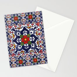 talavera mexican tile pattern Stationery Cards