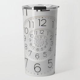 Spiral Clock Droste Travel Mug