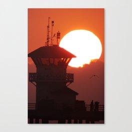 Summer At The Pier Huntington Beach Canvas Print