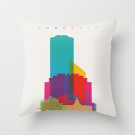 Shapes of Edmonton Throw Pillow