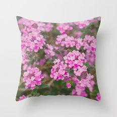 Purple Flowers in the Field Throw Pillow