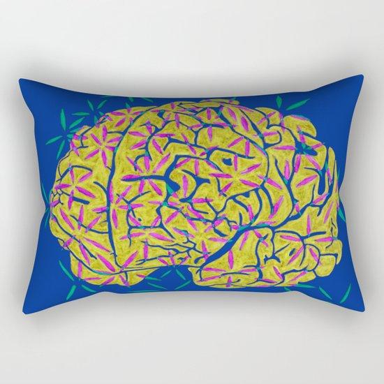 Floral Brain Rectangular Pillow