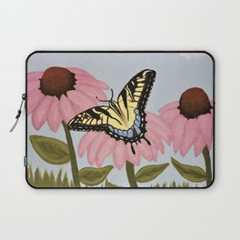 Swalowtail Butterfy on Purple Cone Flower Laptop Sleeve