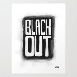 Black Out No.2 Art Print