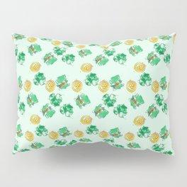 Luck Shamrock St. Patricks Day Pattern Pillow Sham