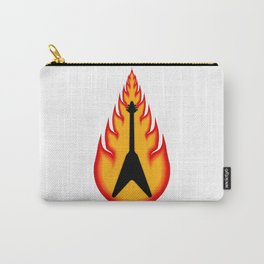Guitar With Fire Graphics Carry-All Pouch