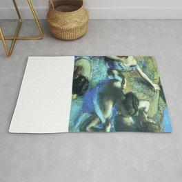 Blue Dancers by Edgar Degas Rug