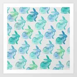Watercolor Bunnies 1I by Kathy Morton Stanion Art Print