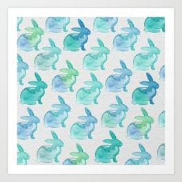 Watercolor Bunnies 1I by Kathy Morton Stanion Art Print
