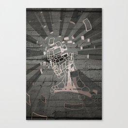 Exploding Head Guy Canvas Print