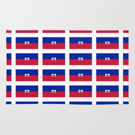 Flag of Haiti-haitan,haitien,port aux princes,cap haitien,carrefour,antilles. Rug