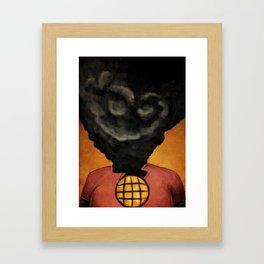 Captain Pollution Framed Art Print