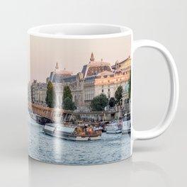 Passerelle Leopold Sedar Senghor and Musee d'Orsay in Paris Coffee Mug