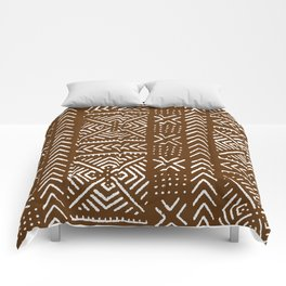 Line Mud Cloth // Brown Comforters
