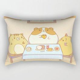 Cute Family Breakfast Rectangular Pillow