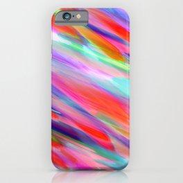 Colorful digital art splashing G399 iPhone Case