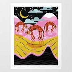 // TIGERZ IN SPACE // Art Print