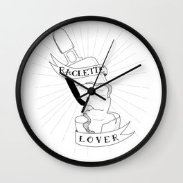 Raclette lover Wall Clock