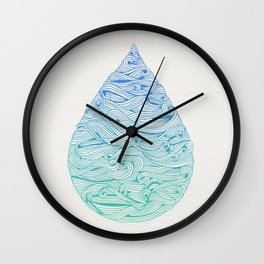 Water Drop – Blue Ombré Wall Clock