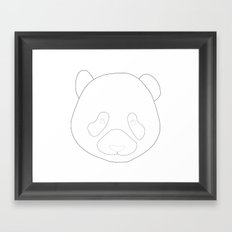 P from Panda Framed Art Print